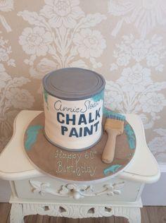 Paint tin birthday cake