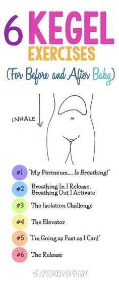 6 Kegel Exercises (For Before and After Baby) #pregnancyadvice
