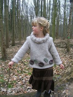 Highland Oak Child's Sweater by Lorraine Hearn from Ravelry