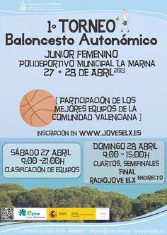 27 y 28 de Abril. Torneo Baloncesto Autonómico Junior Femenino.