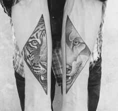 Valentin Hirsch Tattoo - love it Kurt Tattoo, 1 Tattoo, Tiger Tattoo, Tatoo Art, Piercing Tattoo, Wild Tattoo, Tattoo Wolf, Valentin Hirsch Tattoo, Hirsch Tattoos