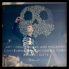 Skull Window - rabbitportal - used posca pens