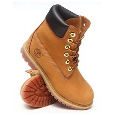 """DrJays.com - Detailed Images of 6"""" PREMIUM BOOTS by Timberland ❤ liked on Polyvore featuring shoes, boots, zapatos, timberland booties and timberland boots"""
