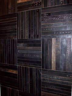 Can you believe this flooring is made of old leather belts?