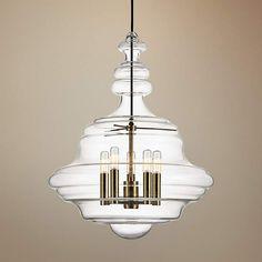 "Hudson Valley Washington 20"" Wide Aged Brass Pendant Light - #1F581 | Lamps Plus"
