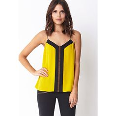 FOREVER 21 Colorblock Beaded Racerback Cami