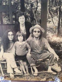 John, Yoko and Sean in Japan 1973