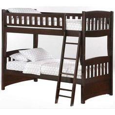 Twin over Twin Bunk Bed in Chocolate | Nebraska Furniture Mart