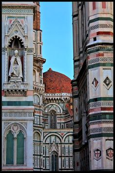 Duomo and Campanile - Firenze.  with Magdalen Nabb in Death in Springtime