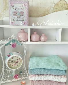 #shabbychic #vintage #shabbychicdecor #shabbychicdecoration #pastel #clock #pink #softblue #blue  #white