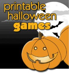 What would a party be without games? Printable Halloween Party Games