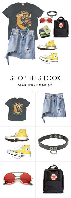 """""""Untitled #220"""" by blvckcreature ❤ liked on Polyvore featuring Levi's, Converse, ZeroUV and Fjällräven"""