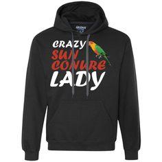 Sun Conures - Crazy Sun Conure Lady Heavyweight Pullover Fleece Sweatshirt