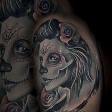 tatuaje catrina en consilium tattoo por richart...
