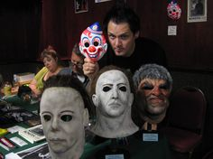 Sean with some masks