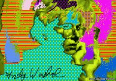 1985 computer imagery found on old floppy discs: Andy Warhol #Commodore #Amiga #art