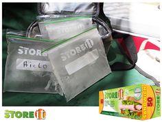 #ideas STOREit  Llena bolsas STOREit de agua y congelalas.  Estarán listas para enfriar tu hielera sin mojar los contenidos.