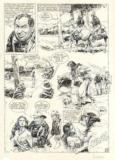 Original Comic Art titled Paolo Serpieri - Page from western story 'Battere il colpo' located in Davide's Serpieri, Paolo Eleuteri Comic Art Gallery Comic Art, Comic Books, Serpieri, Science Fiction Series, Female Images, Line Art, Masters, Erotic, Sci Fi