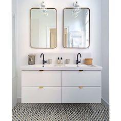 Fronts, handles, legs, sides and tops for Ikea frames Ikea Hack Bathroom, Ikea Bathroom Vanity, Condo Bathroom, Chic Bathrooms, Bathroom Kids, Bathroom Renos, Bathroom Layout, Bathroom Interior Design, Bathroom Inspiration