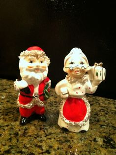 Vintage Santa and Mrs. Claus Salt and Pepper