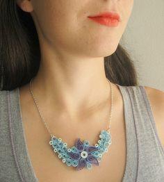 Collana primo anniversario regalo per lei blu gioielli di SbirOtak