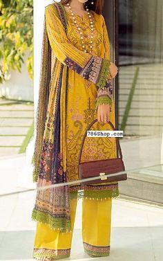Mustard Lawn Suit   Buy Rang Rasiya Pakistani Dresses and Clothing online in USA, UK Pakistani Lawn Suits, Pakistani Dresses, Fashion Pants, Fashion Dresses, Rang Rasiya, Suits Online Shopping, Add Sleeves, Buy Rings, Lawn Fabric