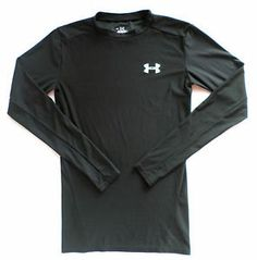 Womens Size M Under Armour Heat Gear Athletic Top, Shirt, Black, Long Sleeve. $19.99