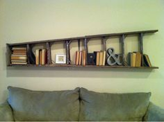 super cool use for an old ladder!