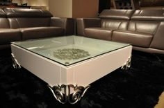 Emma - White Lacquer Modern Coffee Table - http://www.furnishedup.com/living-room/coffee-table/emma-white-lacquer-modern-coffee-table.html