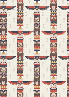 Big Bear Little Bear Totem Tan By the Yard cotton print Lewis & Irene Fabric Patterns, Sewing Patterns, Sewing Machine Service, Bear Totem, Dressmaking Fabric, Big Bear, Haberdashery, Colour Schemes, Free Sewing