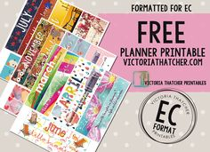 Free Printable Monthly Headers for Erin Condren Sized Planners fromVictoria Thatcher