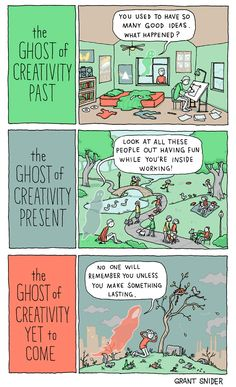 INCIDENTAL COMICS: The Ghosts of Creativity ★ || *Please support the artists and studios featured here by buying this and other artworks in their official online stores • Find us on www.facebook.com/CharacterDesignReferences | www.pinterest.com/characterdesigh | www.characterdesignreferences.tumblr.com |  www.youtube.com/user/CharacterDesignTV and learn more about #concept #art #animation #anime #comics || ★