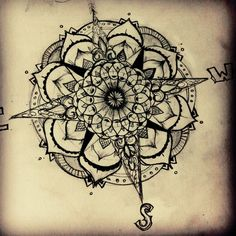 #tattoo #inspiration #compass #nautical #mandala #design