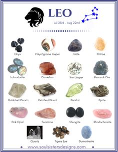 Leo Healing Crystals by Soul Sisters Designs