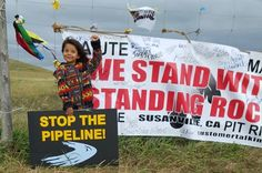 NO DPL! Stop the Pipeline! Sacred Stone Camp, Standing Rock Reservation! Water is Life! Protect the Children's Water!  Photo Credit: Ana Gorman