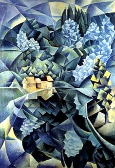 Landscape in Blue, Natan Altman, 1914, Private Collection