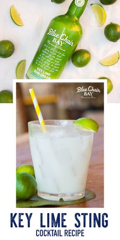 This easy cocktail recipe requires only three ingredient. Shake rum and honey with ice until frosty. Strain into a rocks glass filled with crushed ice. Top with club soda and garnish with a lime wedge. #bluechairbay #keylimerumcream #BCBHappyHour Graham Cracker Crust, Graham Crackers, Easy Cocktails, Cocktail Recipes, Key Lime Rum Cream, Bay Rum, Key Food, Honey Syrup, Lime Wedge