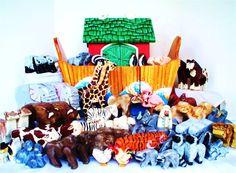 Wooden Noahs Ark Your Choice SUPERSIZE Set With by BestLovedChild, $496.00