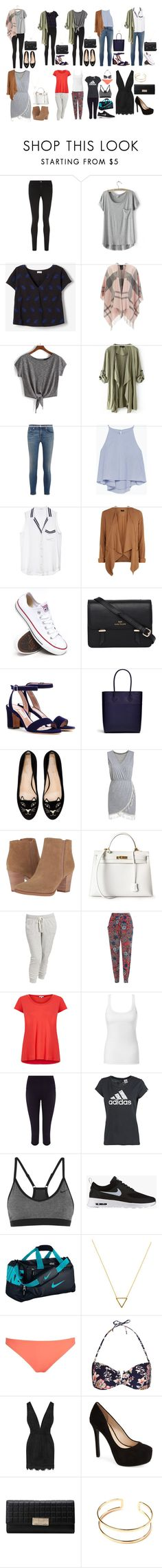 """Free Time"" by strawberryfelton on Polyvore featuring Mode, Frame, LULUS, SUNO New York, Barbour, rag & bone, Zara, Equipment, New Look und Converse"