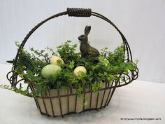 For a total of $10 and a little bit of time, we'll have a pretty centerpiece until Easter.