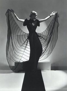 """""""Spider Dress: Helen Bennett, Fashion Advertising for Bergdorf Goodman, VOGUE Paris, New York, © Horst P. Horst / Staley-Wise Gallery New York Classic Photography, Vintage Fashion Photography, Winter Photography, Amazing Photography, Tween Fashion, Fashion Outfits, Fashion Clothes, Fashion Ideas, Girl Fashion"""