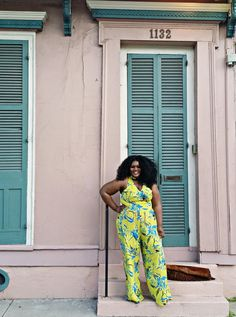 """""""Loving that wide-leg jumpsuit on you 😍😍😍 Fat Girl Fashion, Curvy Fashion, Plus Size Fashion, Hey Girl, Wide Leg, Jumpsuit, Casual, Confidence, Pants"""