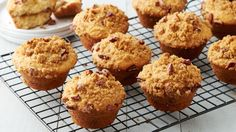 Pie for breakfast? Yes, please! No guilt necessary with these delicious pecan pie-inspired muffins bursting with delicious streusel.