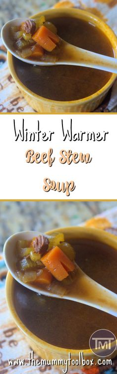 Winter Warmer, Beef Stew soup for warming you from the inside. Delicious recipe that is easy and yummy! Chili Recipes, Quick Recipes, Soup Recipes, Recipe Cover, Easy Food To Make, Perfect Food, Soups And Stews, Yummy Food, Tasty
