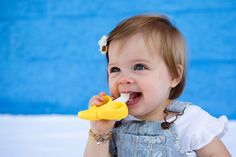 Only the cutest toothbrush for the cutest kids! Baby Banana Infant Toothbrush