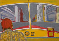Andrzej Wróblewski - Bus Driver - Museum of Modern Art in Warsaw Bus Art, Stream Of Consciousness, After Life, Bus Driver, Museum Of Modern Art, Warsaw, Figure Painting, Contemporary Paintings, Artists