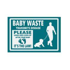 BABY WASTE - Courtesy Notice Sign