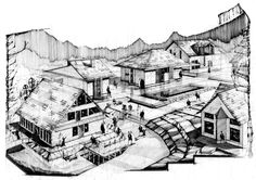 Residential Neighbourhood© 2012 by Alexandru Mihai Ticalo. All rights reserved Traditional House, Arches, Sketching, The Neighbourhood, Louvre, Houses, Drawings, Building, Travel