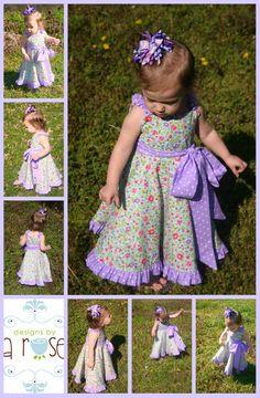 Purple Rose girls dress - 12m, 18m, 24m/2t, 3t, 4t, 5t, 6. $35.00, via Etsy.