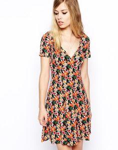 Image 1 ofASOS Tea Dress in Floral Print